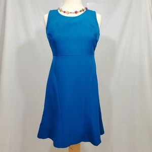 Kasper Teal Blue A-Line Career Midi Dress
